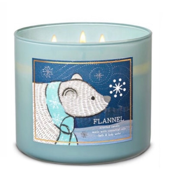 B&BW Flannel 3-Wick Candle